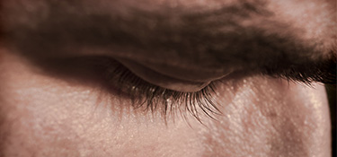 Extreme close up of a man's eye