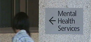 Mental Health Services sign