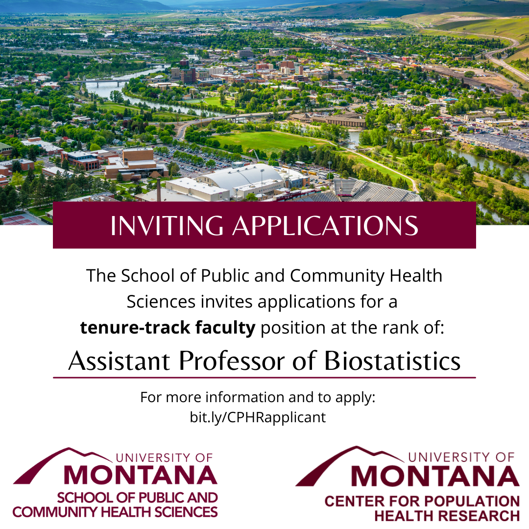SPCHS invites applications for atenure-track facultyposition at the rank ofAssistant Professor of Biostatistics