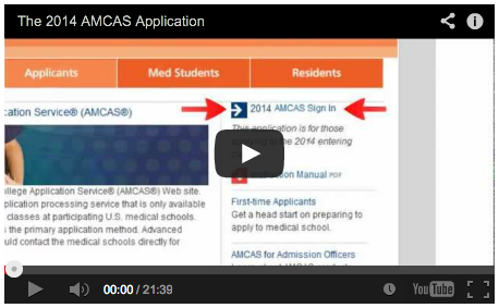 The 2014 AMCAS Application Movie